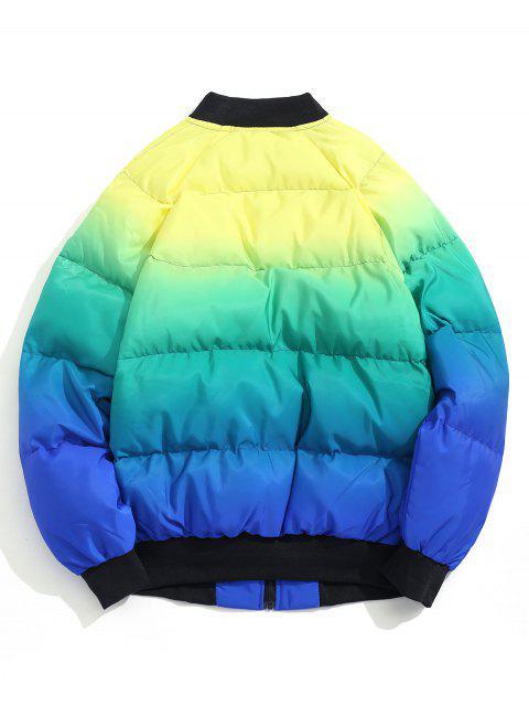 El bloqueo de color postal Hasta acolchada chaqueta - Azul XL Mobile