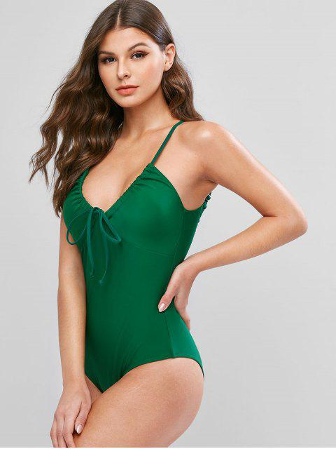 trendy ZAFUL Cami Open Back One-piece Swimsuit - MEDIUM SEA GREEN XL Mobile