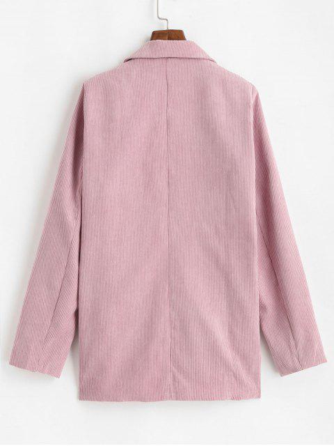Gepatchte Taschen Zweireiher Kord Blazer - Rosa M Mobile