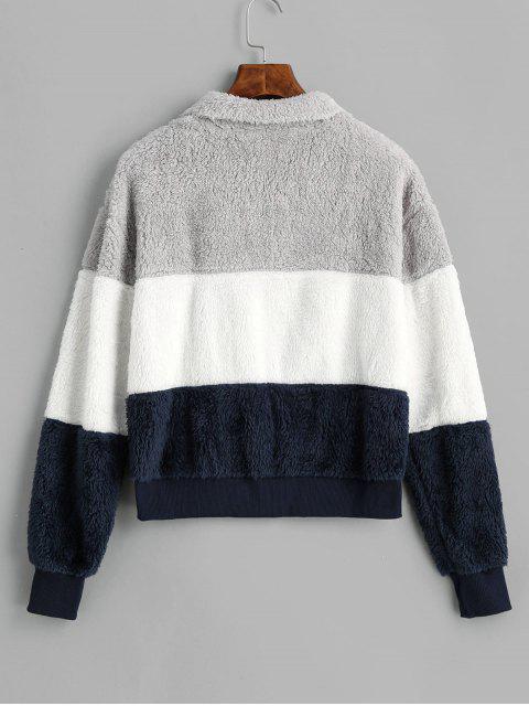 Vogue-Tange-Socken-Kleidbaby Vierschichtige-] V-Entspannung-Viertel-Sweatshirt - Multi L Mobile