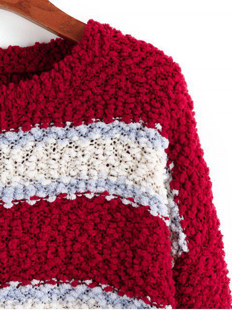 ZAFUL Colorblockドロップショルダーポップコーンニットセーター - マルチC S Mobile