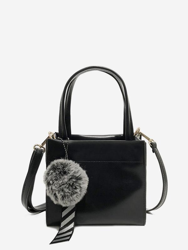 Fuzzy Ball Pendant Small Shoulder Bag