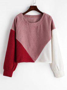 Colorblock Corduroy Sweatshirt