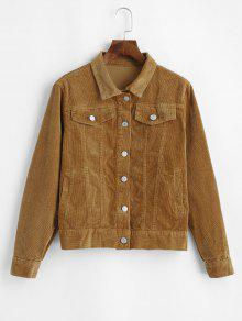 Button Up Corduroy Jacket