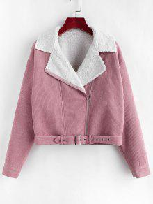 Corduroy Drop Shoulder Lapel Jacket