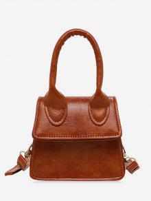 حقيبة الكتف الصلبة المصغرة - بنى