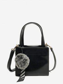 غامض الكرة قلادة حقيبة الكتف الصغيرة - أسود