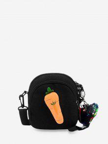 الكرتون حقيبة قماش CROSSBODY - أسود