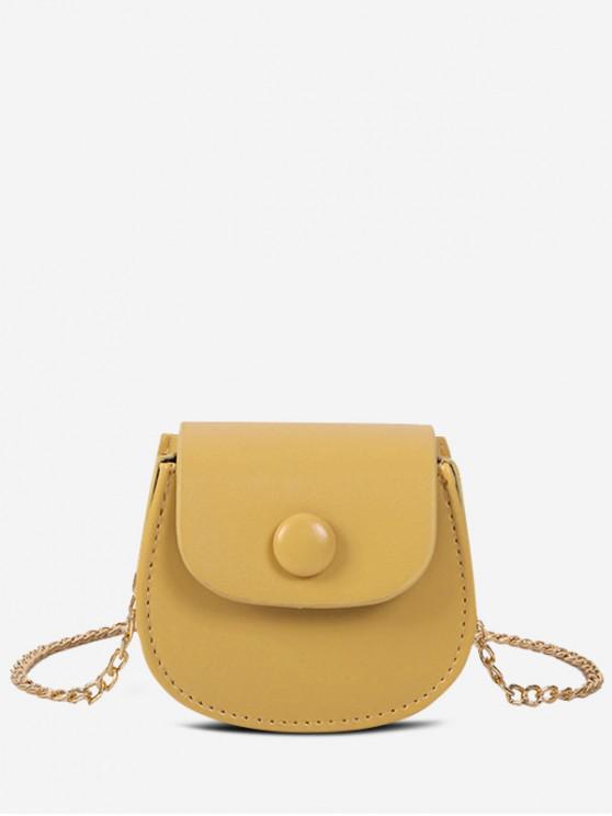 online Solid Saddle Shoulder Bag - GOLDENROD
