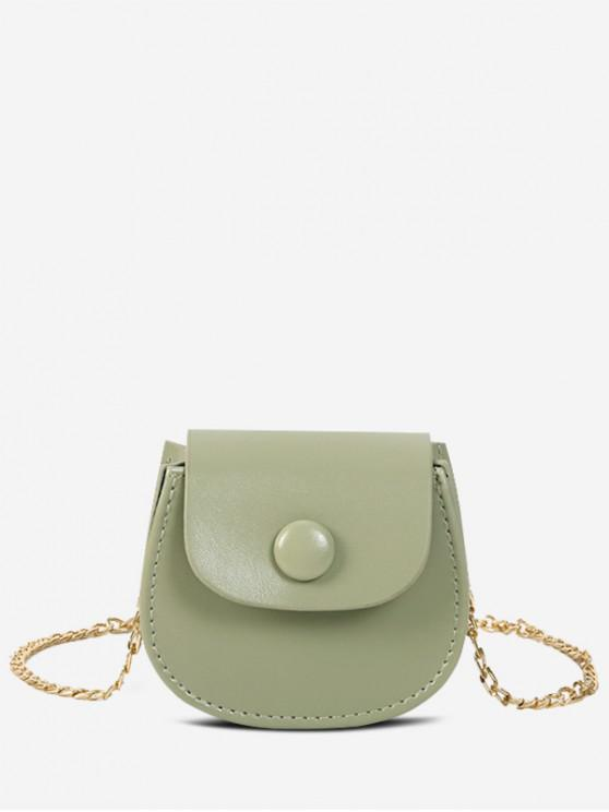 outfits Solid Saddle Shoulder Bag - GREEN ONION