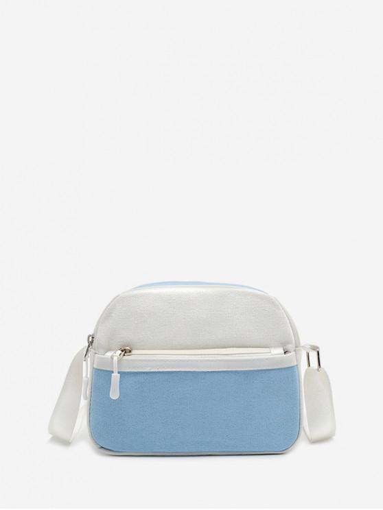 outfit Mini Canvas Shoulder Bag - LIGHT SKY BLUE