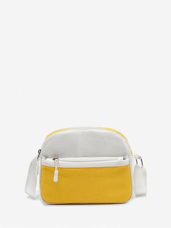 best Mini Canvas Shoulder Bag - SUN YELLOW