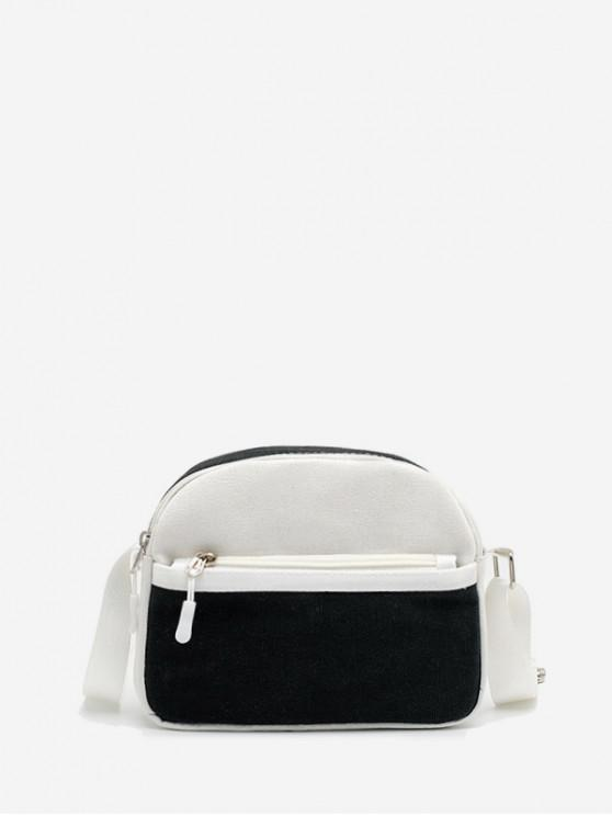 new Mini Canvas Shoulder Bag - BLACK