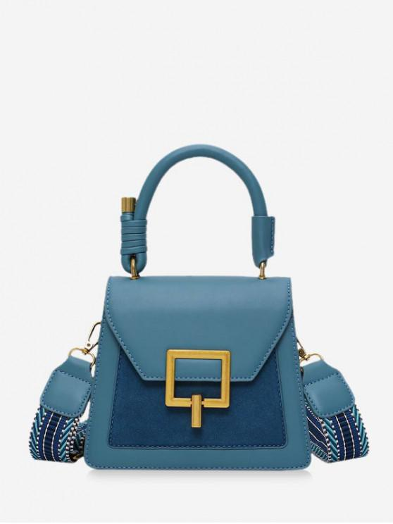fancy Crossbody Jointed Shoulder Bag - PEACOCK BLUE