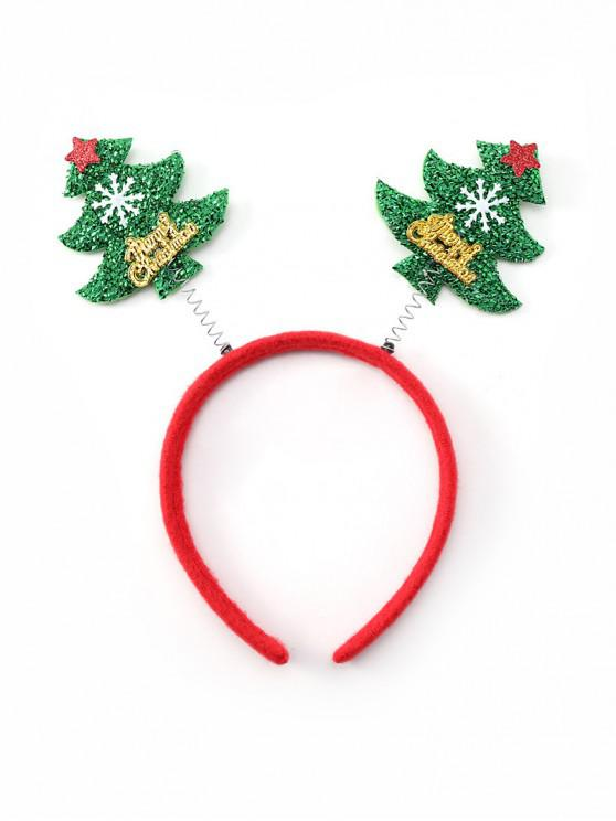latest Christmas Tree Snowflake Decorative Hairband - GREEN
