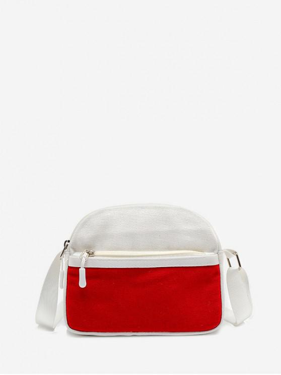 outfits Mini Canvas Shoulder Bag - ROSSO RED