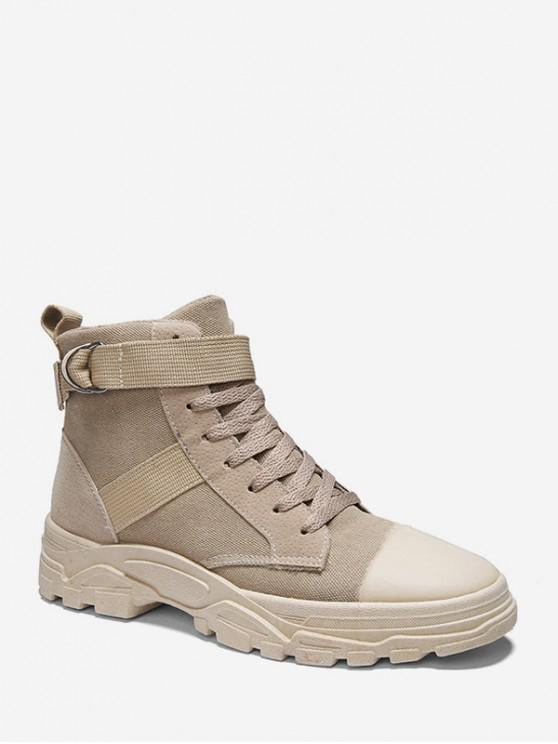Periate Boots Belted Accent Cargo Canvas - Kaki UE 43