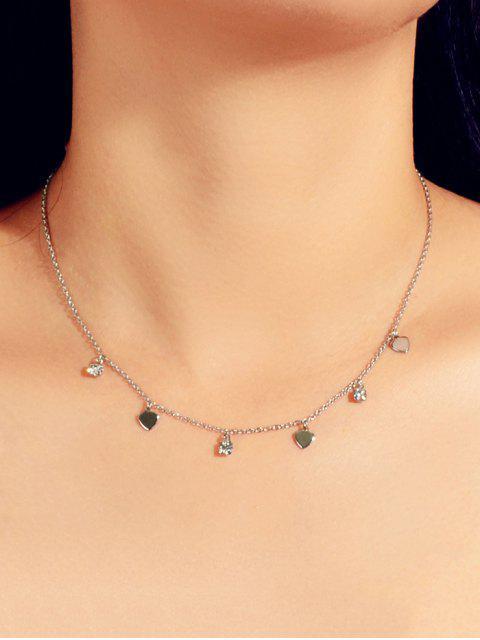 Горный хрусталь Сердце Ожерелье - Серебристый  Mobile