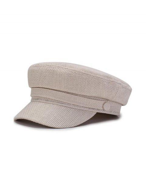 Одноцветная Повседневная Плоская Шляпа - Бежевый  Mobile