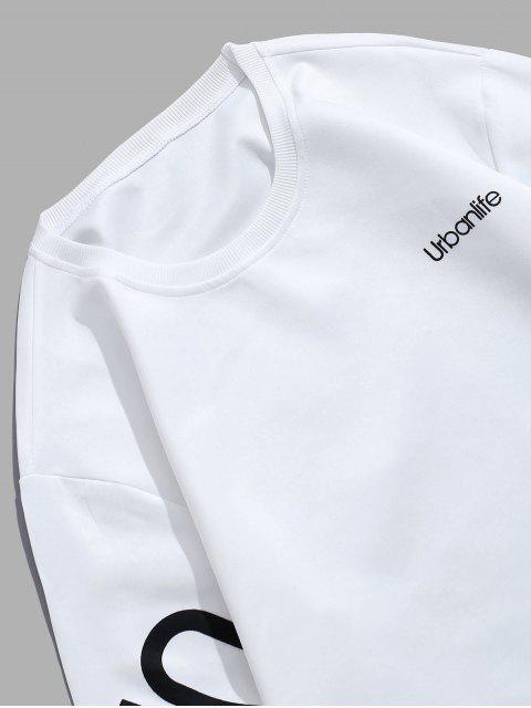 Gráfico Carta urbano sudadera pulóver - Blanco L Mobile
