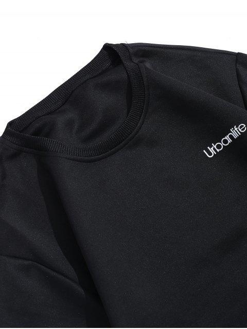 Gráfico Carta urbano sudadera pulóver - Negro L Mobile