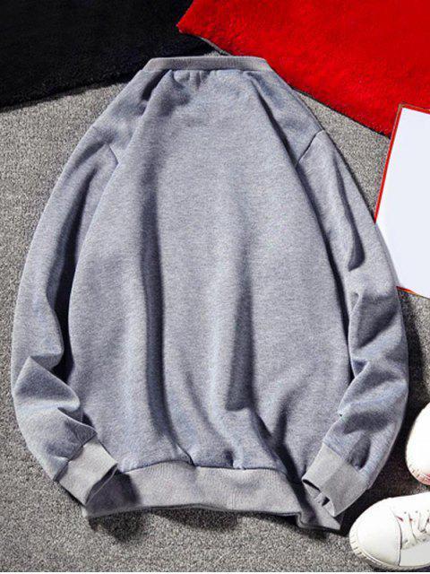 Carta gráfica del equipo de impresión cuello Fleece con capucha - Gris M Mobile