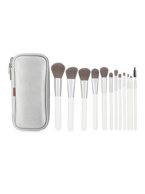Ensemble Brosse de Maquillage à Poudre 12 Pièces avec Sac - Blanc  Mobile