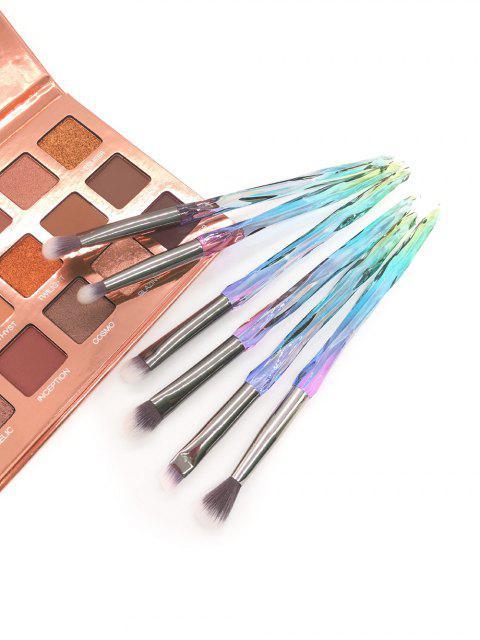 6шт Кристалл Набор Кистей Для макияжа - Прозрачный  Mobile