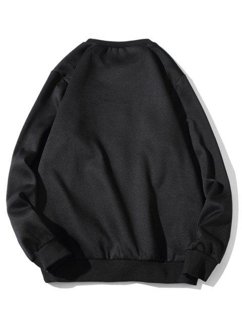 Carta gráfica del equipo de impresión cuello Fleece con capucha - Negro 2XL Mobile