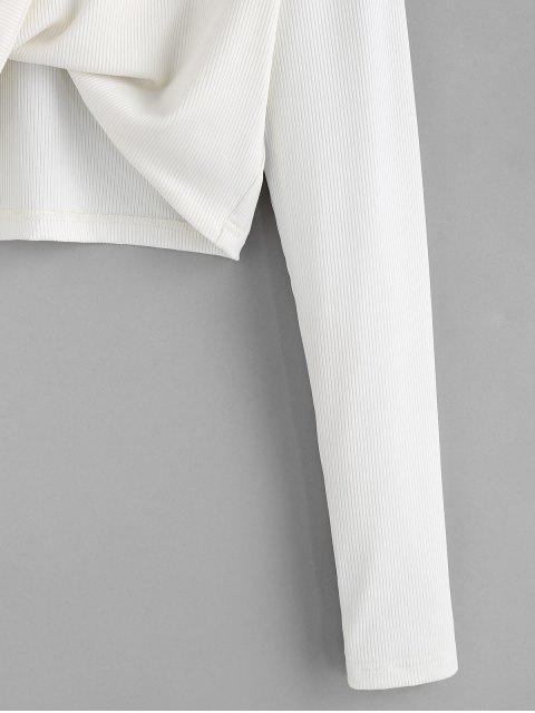 ZAFUL Zugeschnittes T Shirt - Milchweiß XL Mobile