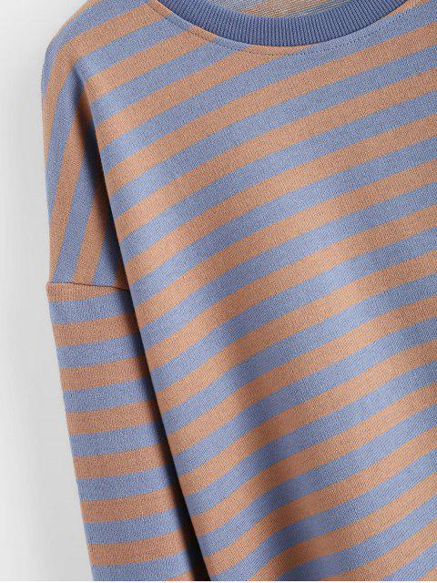 條紋落肩縫運動衫 - 多 XL Mobile