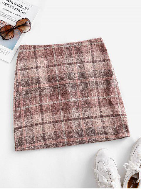 Tweed Minirock mit Reißverschluss am Rücken - Rosa M Mobile