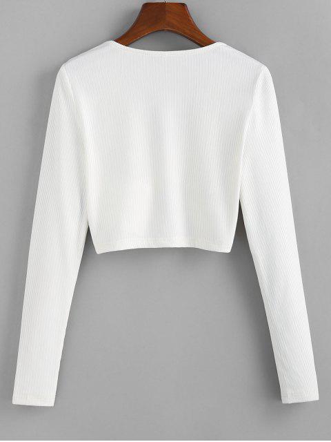 ZAFUL T-shirt Court Tordu en Avant - Blanc Lait XL Mobile
