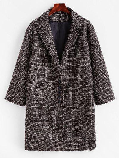 Image of Lapel Pocket Single Breasted Coat