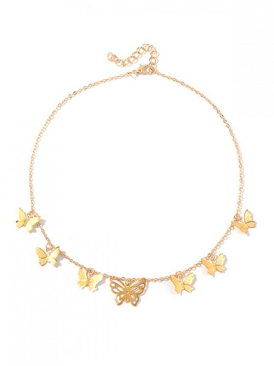 best Hollowed Metallic Butterfly Necklace - GOLD