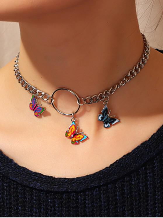 sale Chain 3D Butterfly Necklace - SILVER
