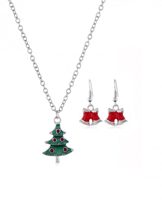 outfits Christmas Tree Bell Jewelry Set - SILVER