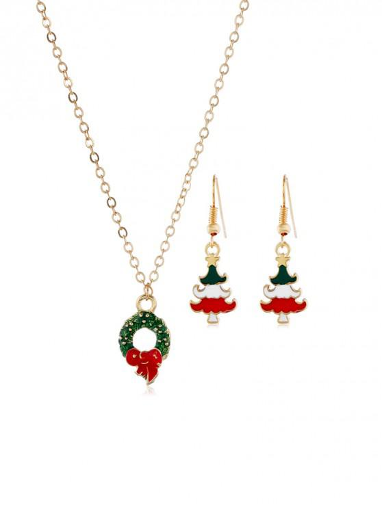 shops Christmas Tree Garland Jewelry Set - GOLD