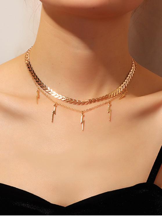 Collar de Cadena de Doble Capa de Flecha - Oro