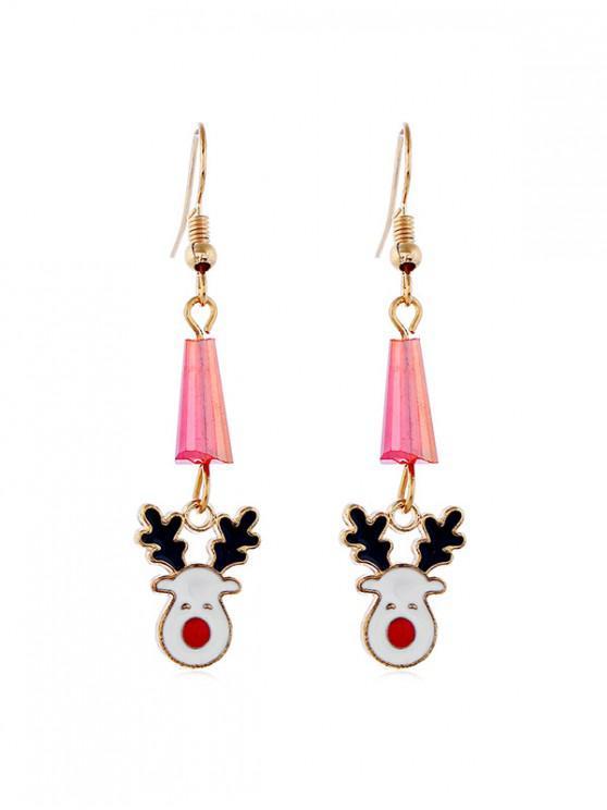 new Christmas Elk Faux Crystal Earrings - GOLD
