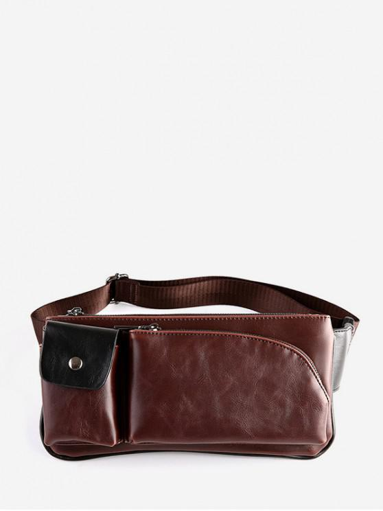 Multi Pockets Pu Leather Adjule