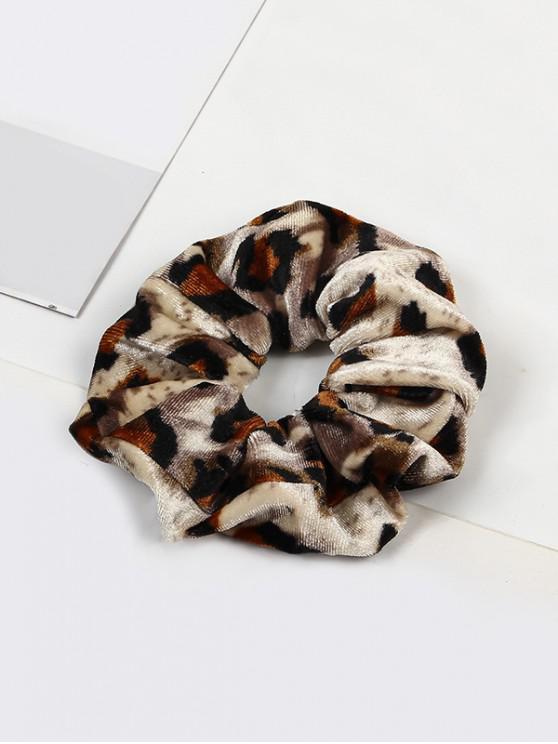 lady Leopard Elastic Velour Fabric Scrunchy - MULTI-B