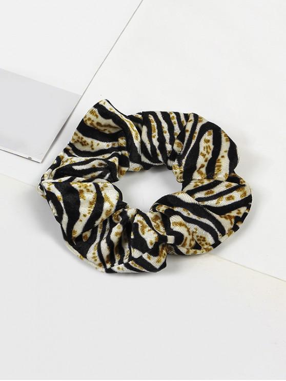 buy Leopard Elastic Velour Fabric Scrunchy - MULTI-E