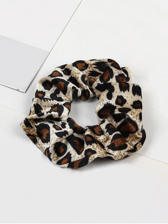 Leopard elastic velur Fabric Scrunchy - Multi-D