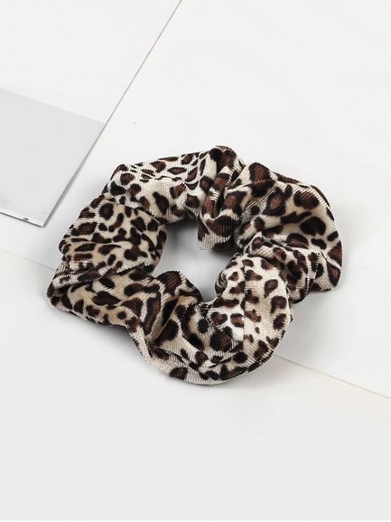 lady Leopard Elastic Velour Fabric Scrunchy - MULTI-A
