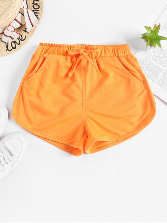 Tie Pocket Dolphin Gym Shorts - Arancione Mango S