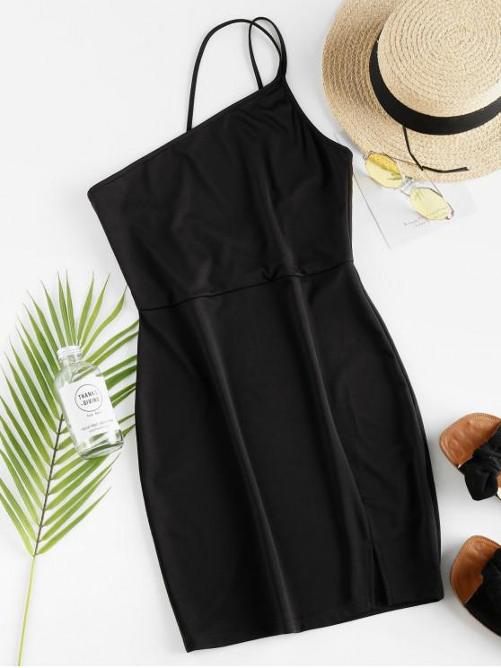 trendy ZAFUL One Shoulder Bodycon Dress - BLACK M