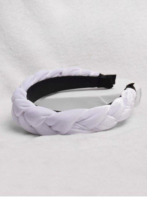 Bande de Cheveux Tordu Design - Blanc  Mobile