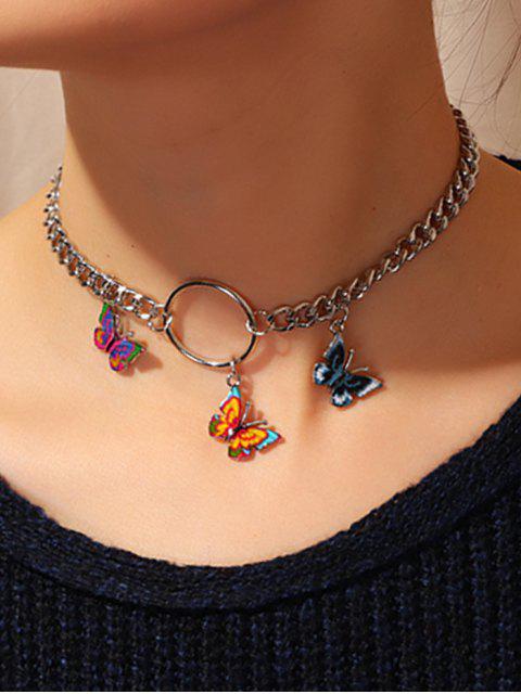 Collier à Chaîne 3D Papillon - Argent  Mobile