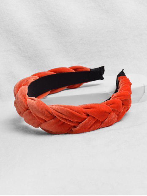 outfit Fried Dough Twist Design Headband - ORANGE  Mobile